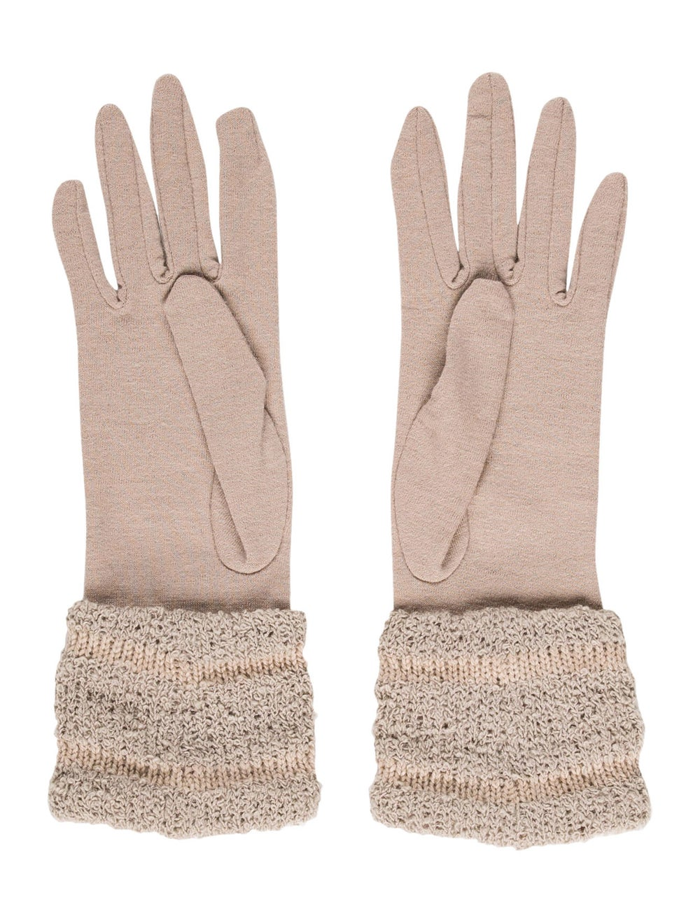 Patricia Underwood Wool Woven Gloves Tan - image 2