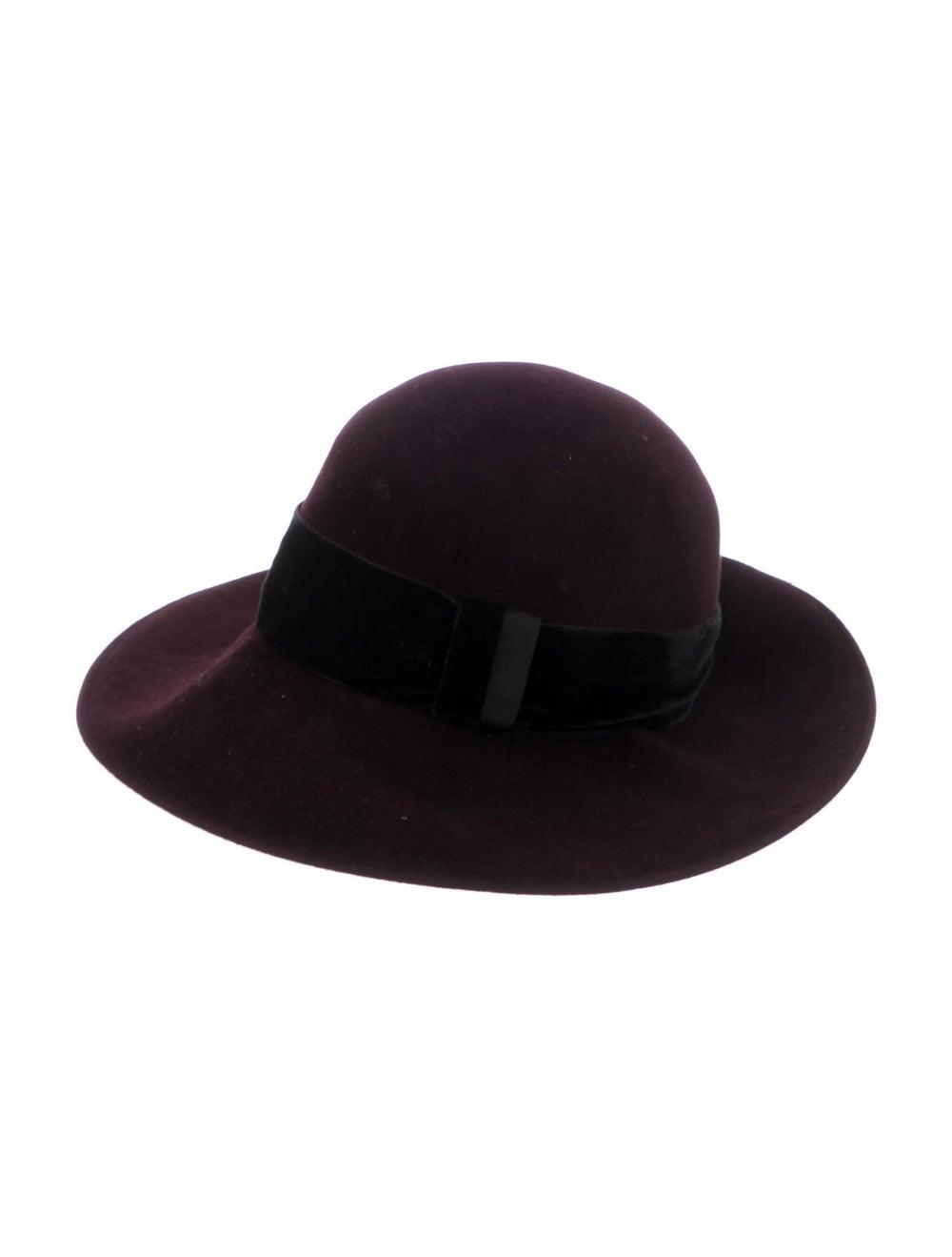 Patricia Underwood Wide-Brim Hat Purple - image 1