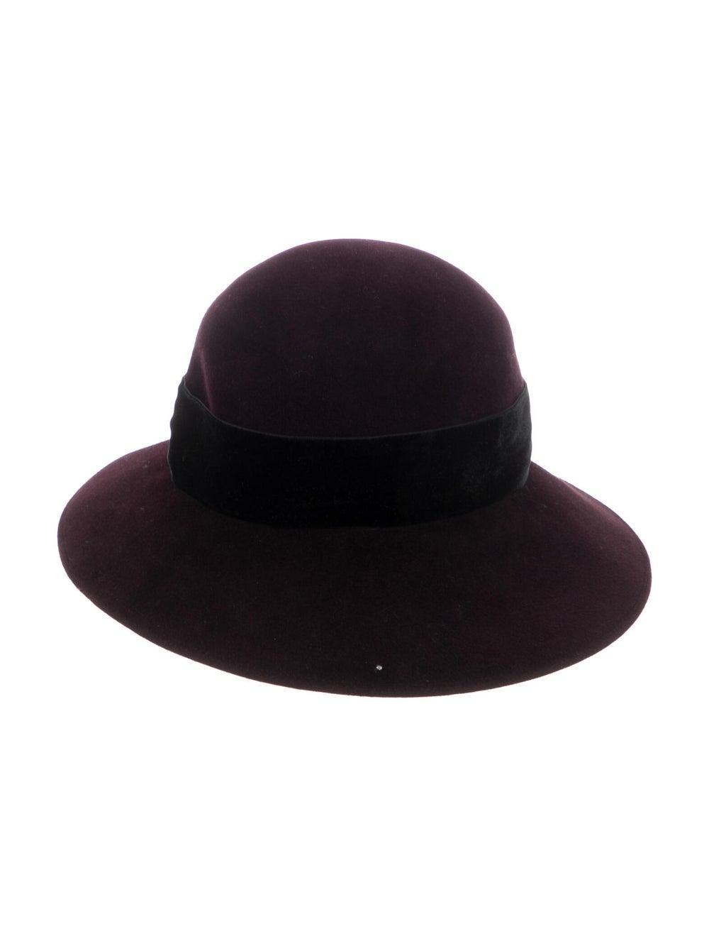 Patricia Underwood Wide-Brim Hat Purple - image 2