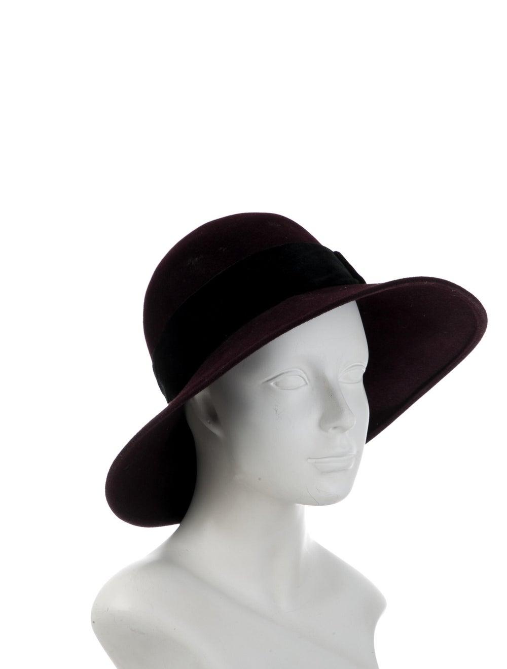 Patricia Underwood Wide-Brim Hat Purple - image 3