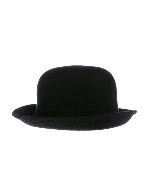 Patricia Underwood Felt Bowler Hat Black - image 1