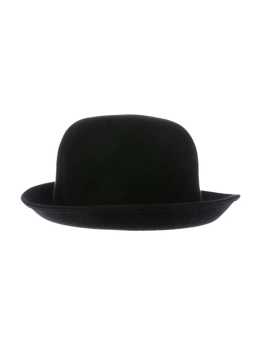 Patricia Underwood Felt Bowler Hat Black - image 2
