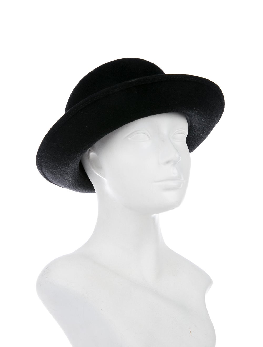 Patricia Underwood Felt Bowler Hat Black - image 3
