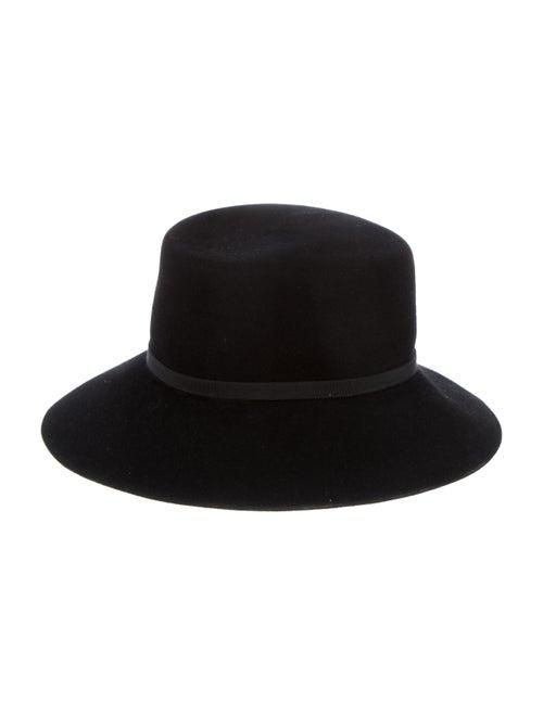 Patricia Underwood Felt Fedora Hat Black - image 1