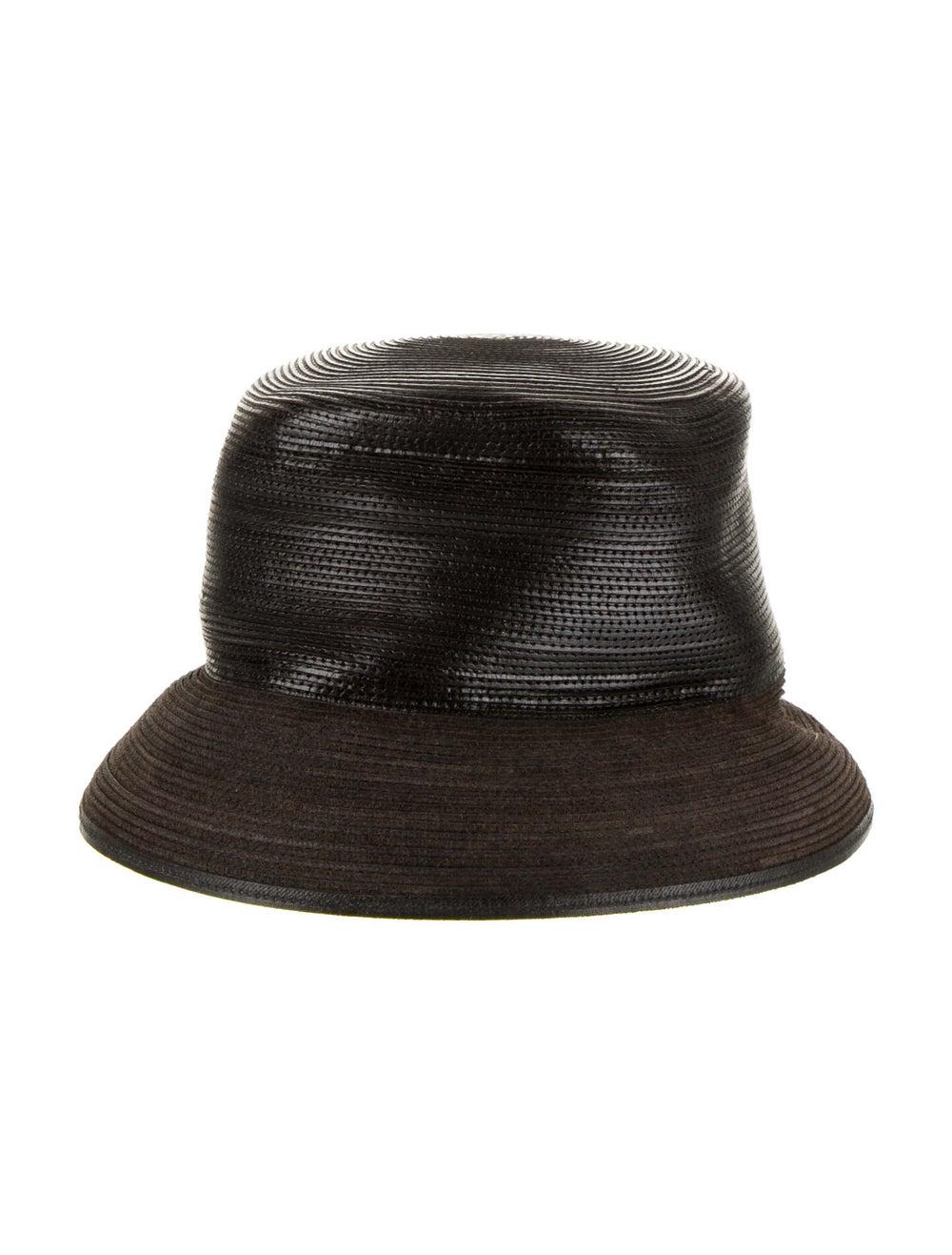 Patricia Underwood Leather Brim Hat Brown - image 1