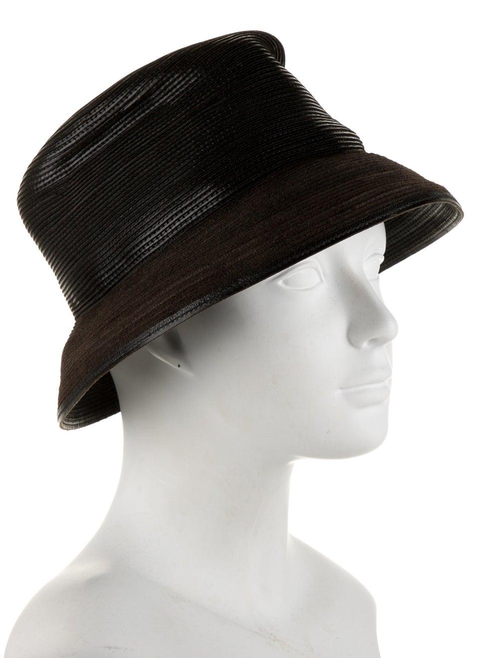 Patricia Underwood Leather Brim Hat Brown - image 3