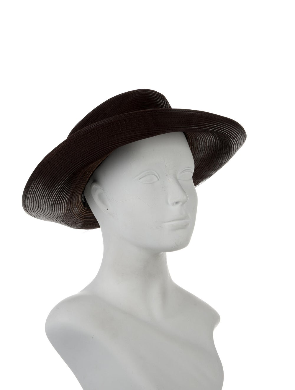 Patricia Underwood Wide Brim Hat Brown - image 3
