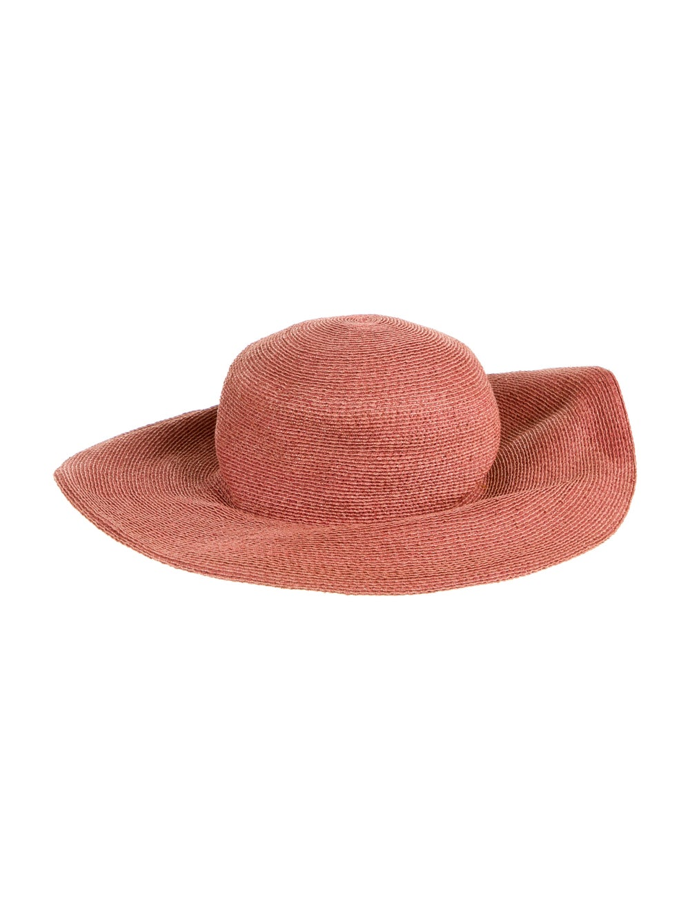 Patricia Underwood Raffia Wide-Brim Hat red - image 2