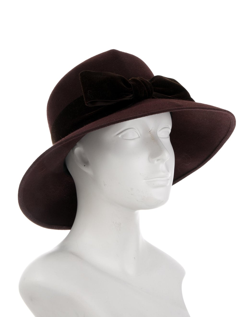 Patricia Underwood Felt Fedora Hat Brown - image 3