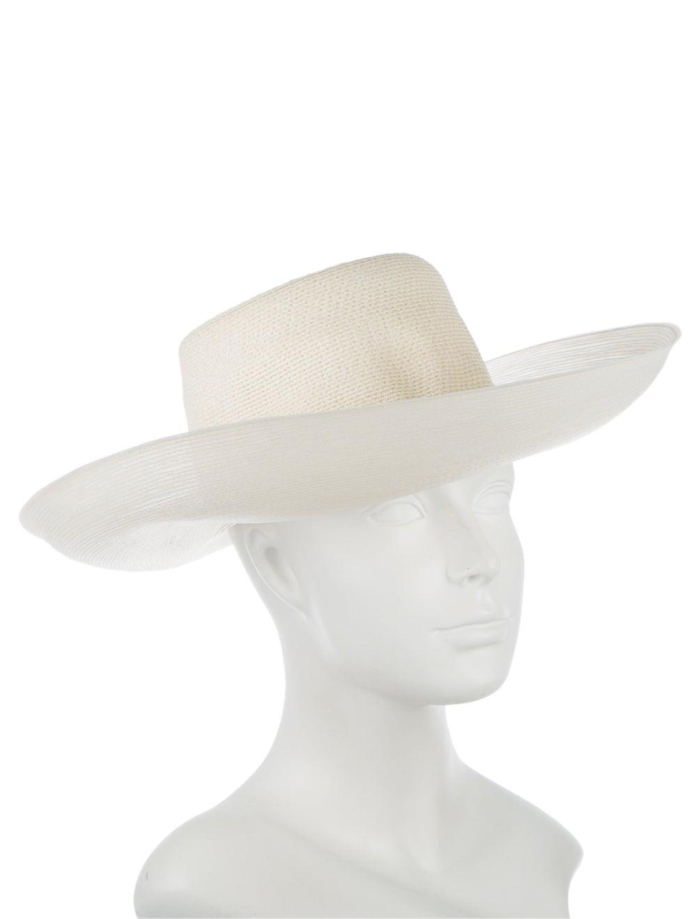 Patricia Underwood Wide-Brim Straw Hat Cream - image 3