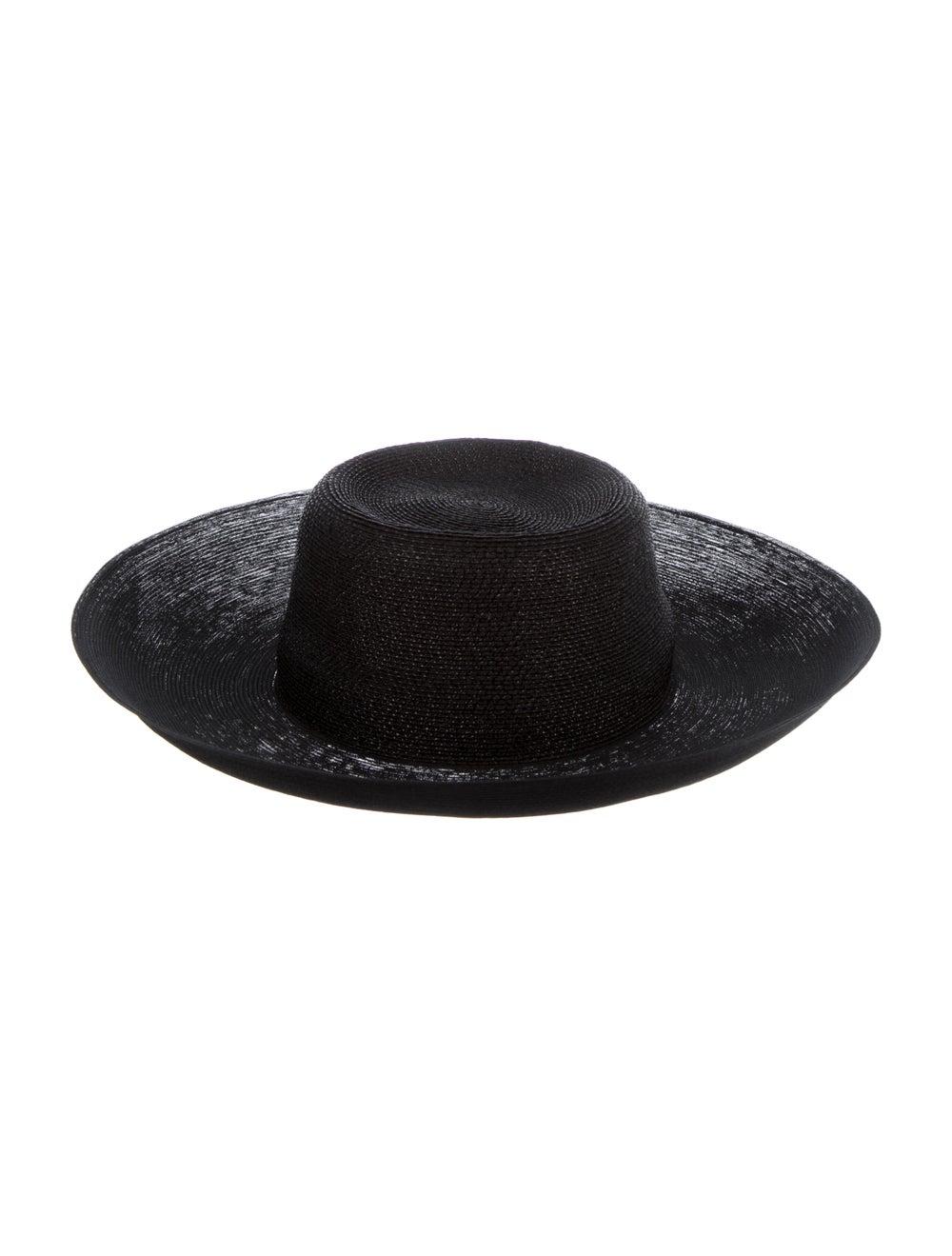 Patricia Underwood Wide-Brim Straw Hat Black - image 1
