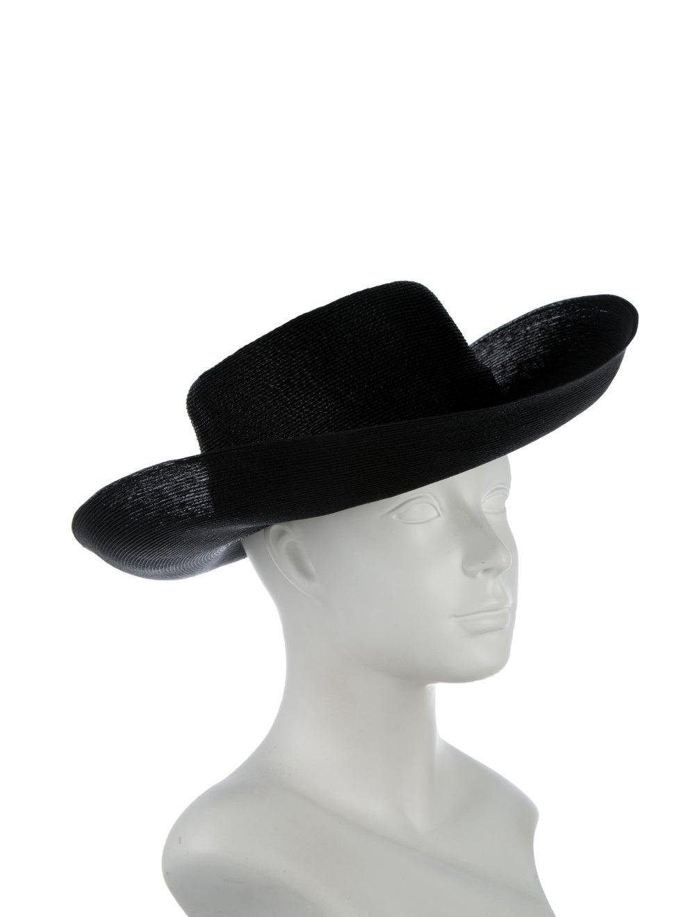 Patricia Underwood Wide-Brim Straw Hat Black - image 3