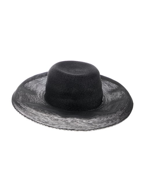 Patricia Underwood Wide Brim Hat Black