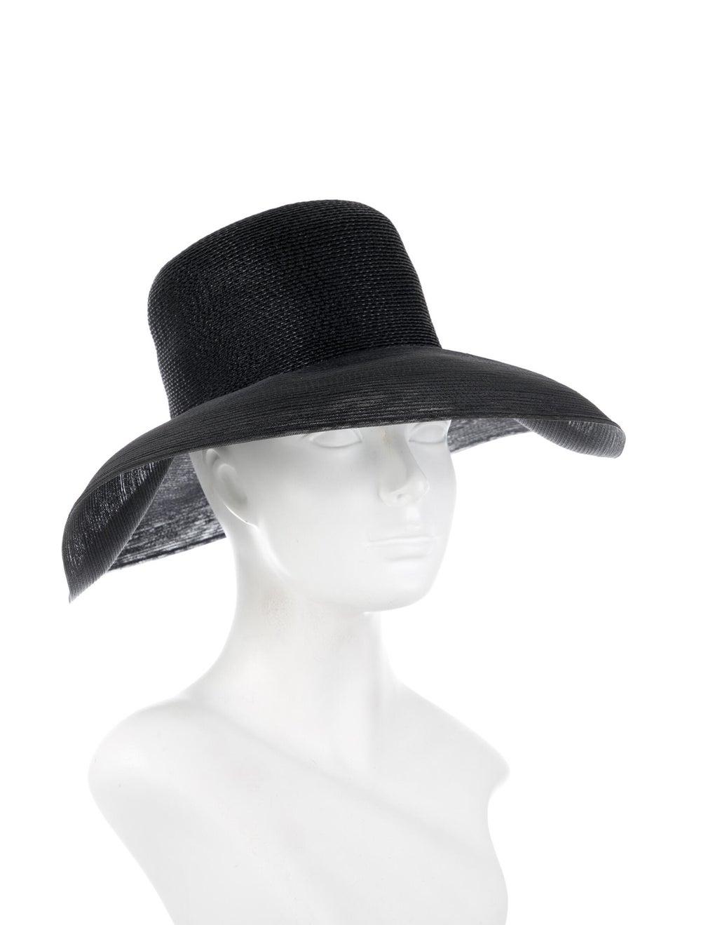 Patricia Underwood Wide Brim Hat Black - image 3