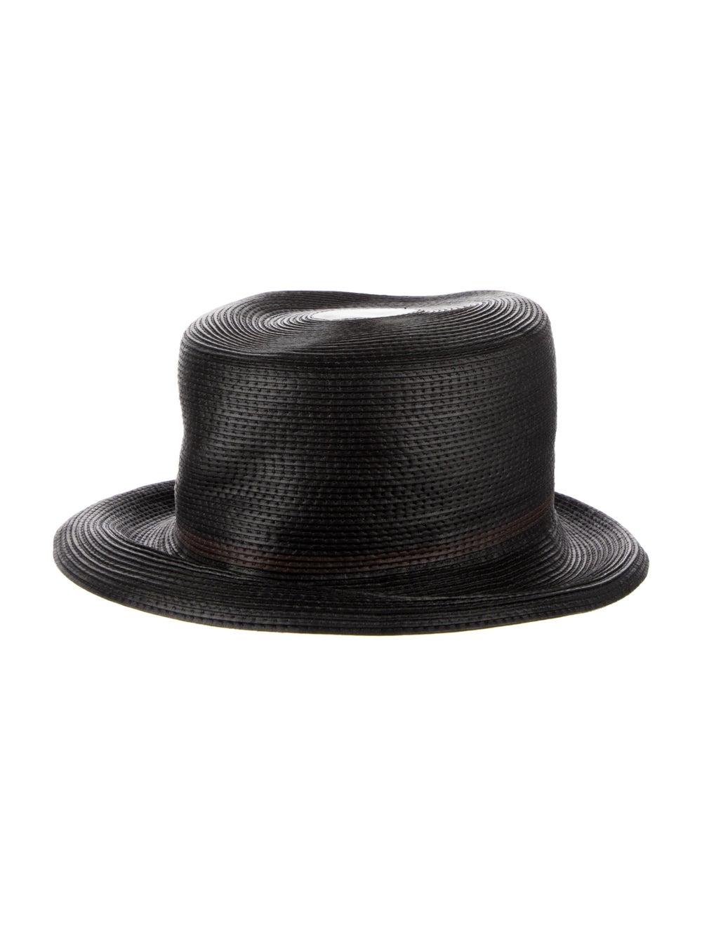 Patricia Underwood Straw Wide Brim Hat Black - image 2