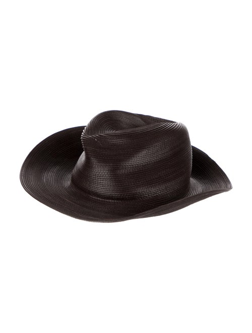 Patricia Underwood Leather Hat Brown - image 1