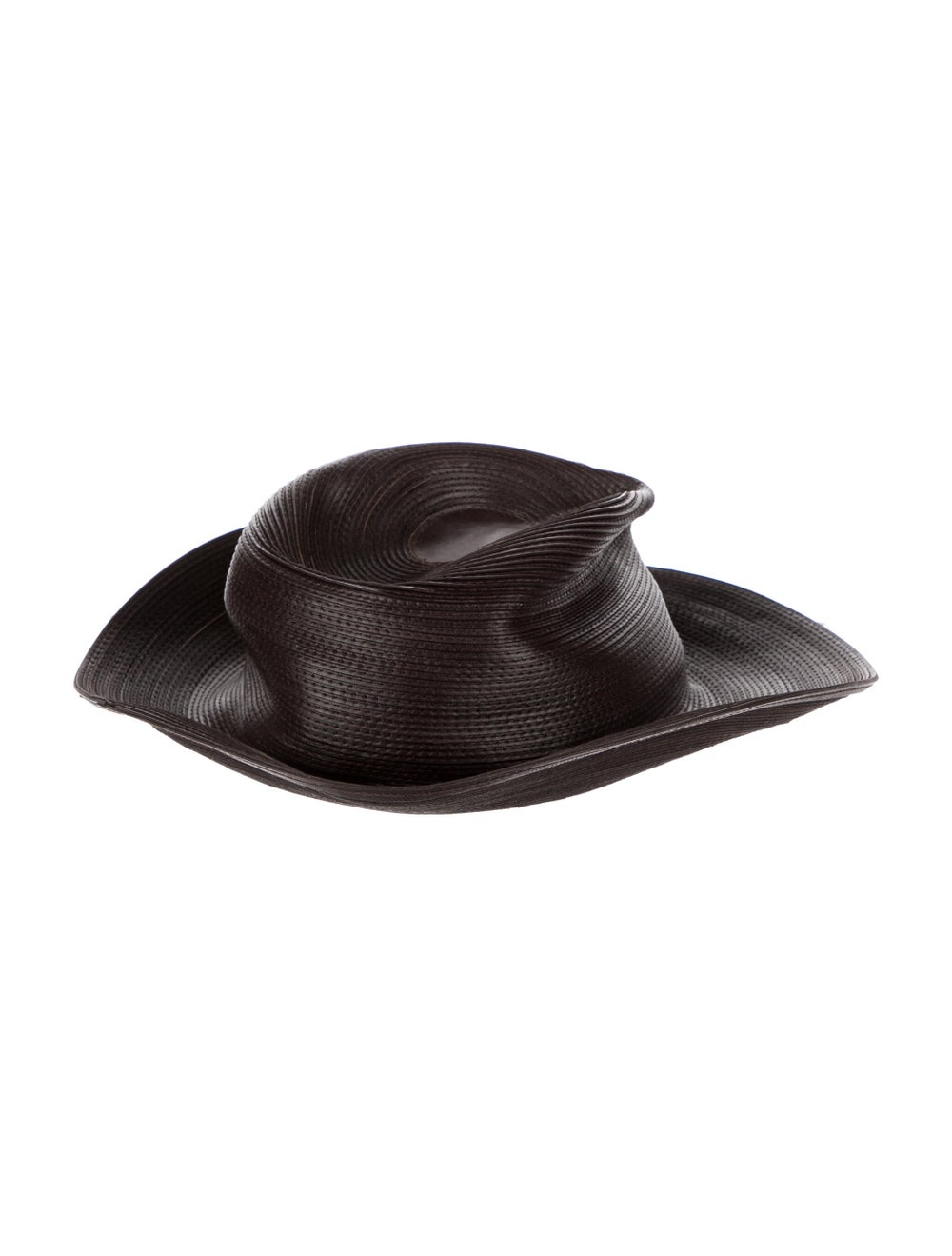 Patricia Underwood Leather Hat Brown - image 2
