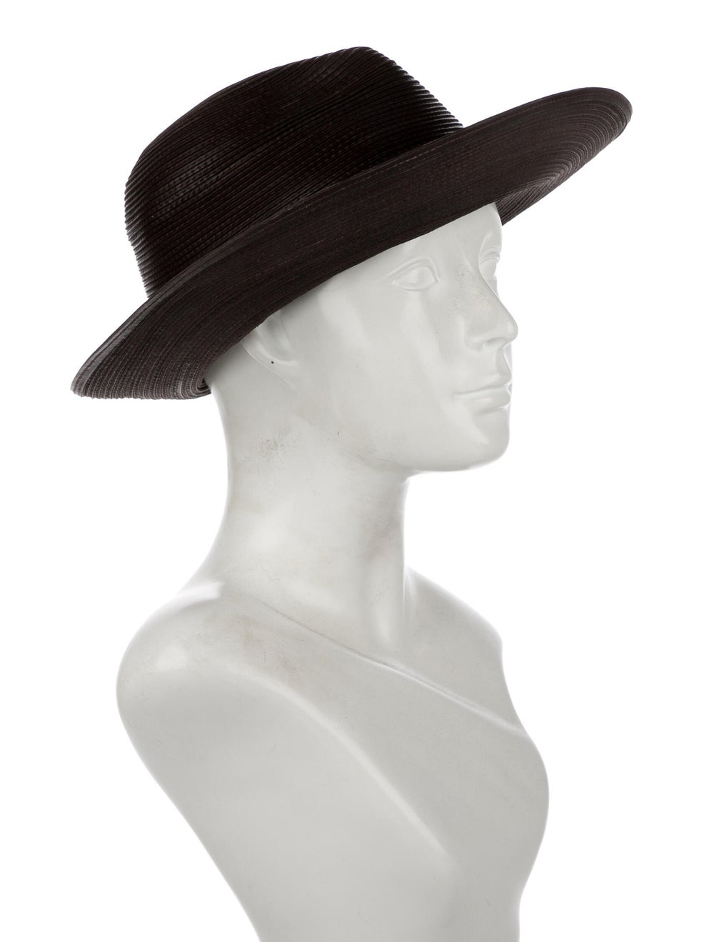 Patricia Underwood Leather Hat Brown - image 3