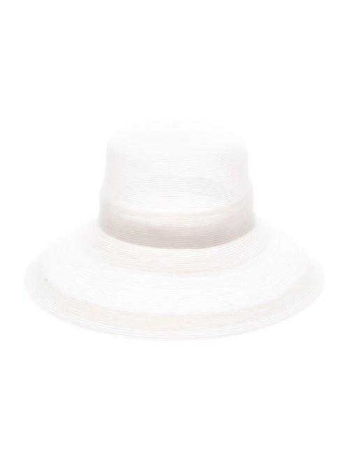 Patricia Underwood Straw Wide-Brim Hat White - image 1