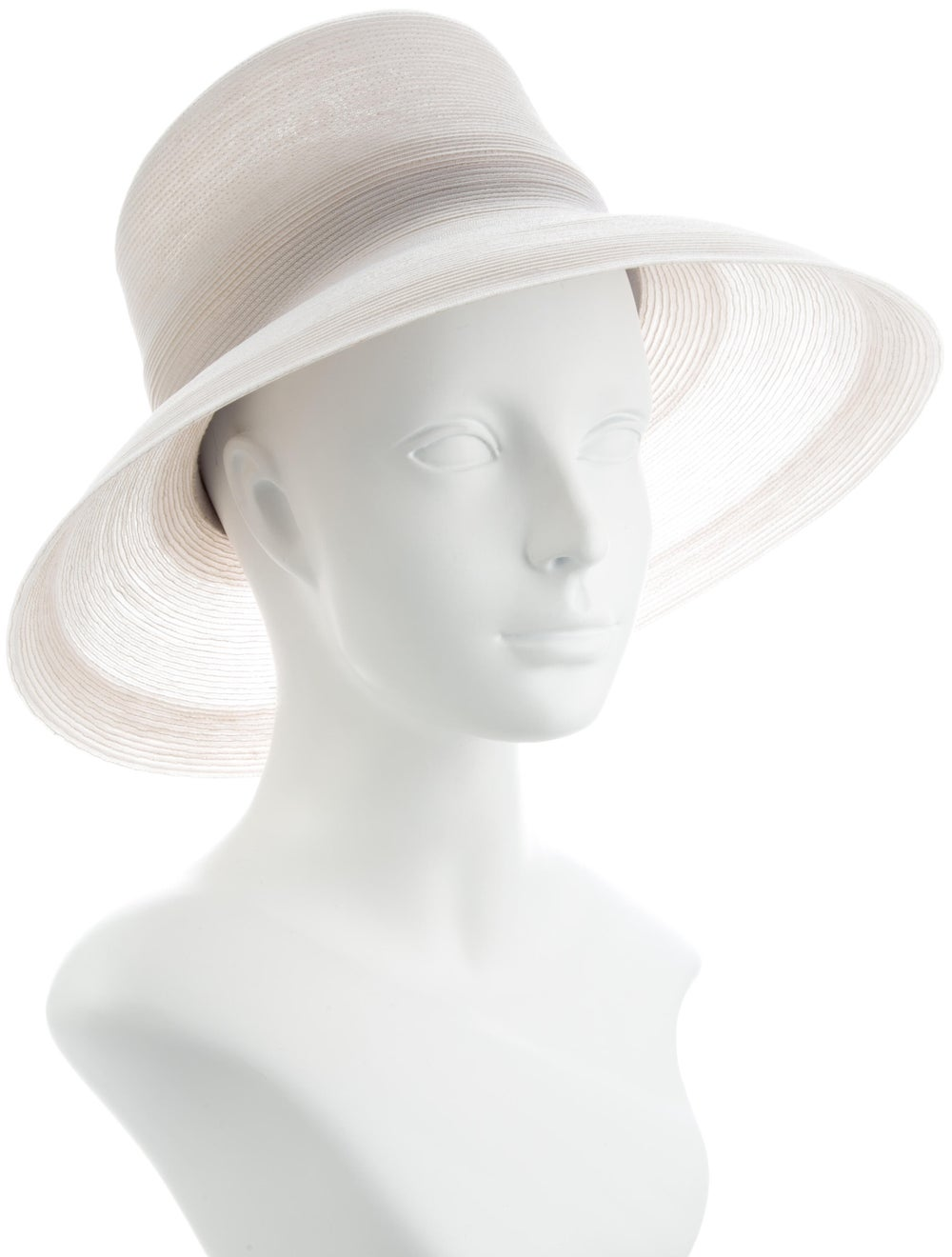 Patricia Underwood Straw Wide-Brim Hat White - image 3
