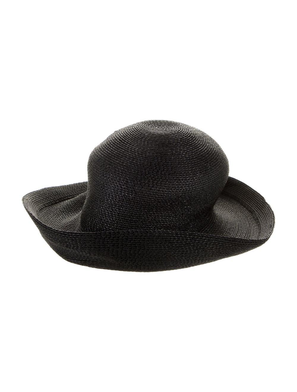 Patricia Underwood Black Straw Sun Hat Black - image 1