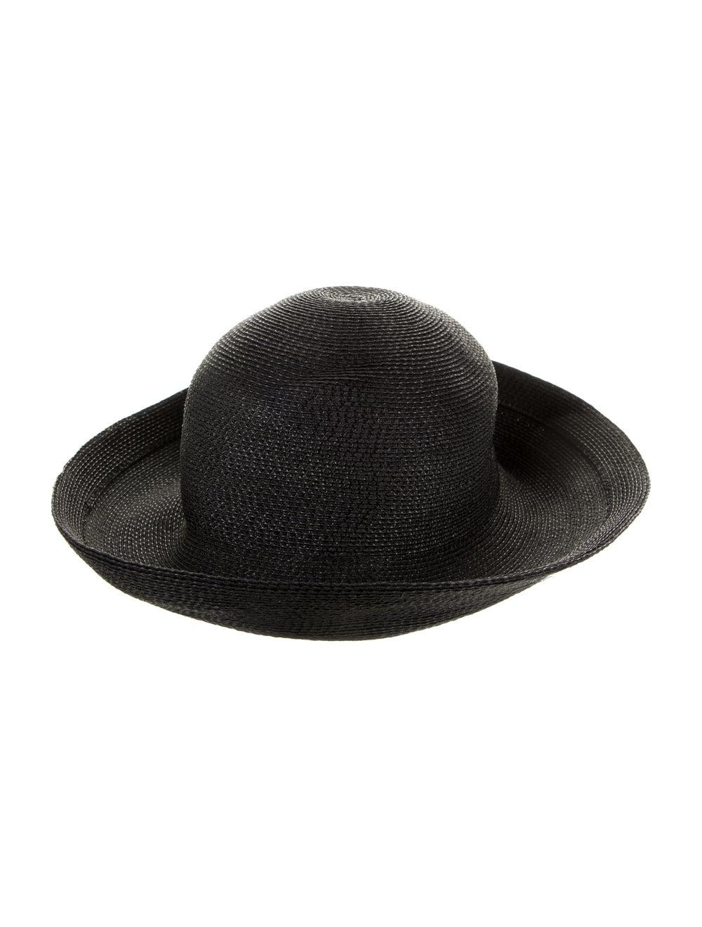 Patricia Underwood Black Straw Sun Hat Black - image 2