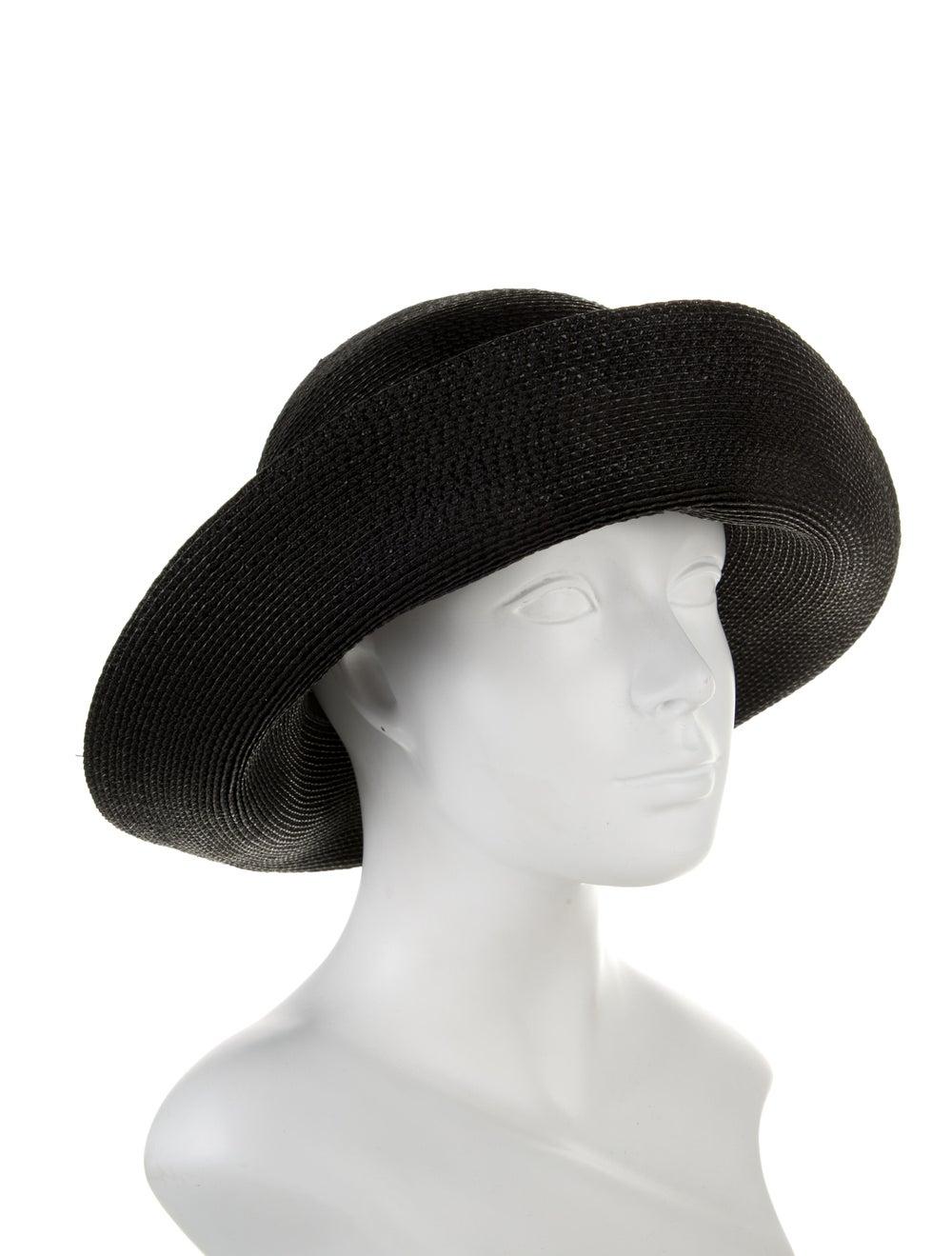 Patricia Underwood Black Straw Sun Hat Black - image 3