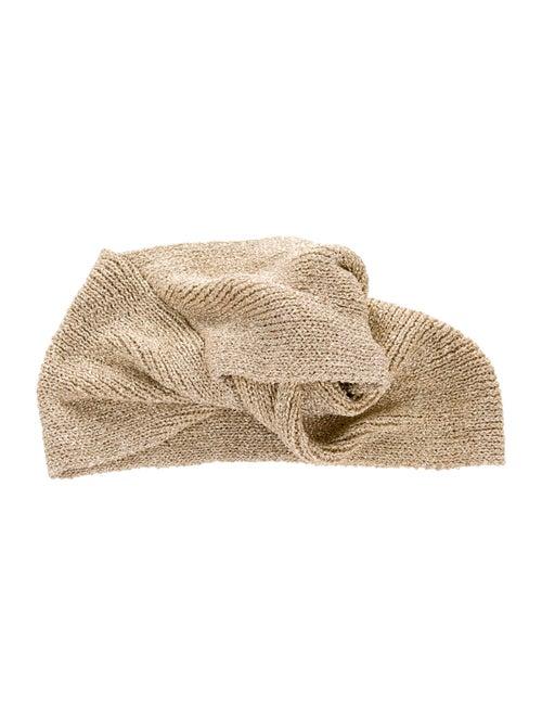 Patricia Underwood Metallic Knot headband Gold - image 1