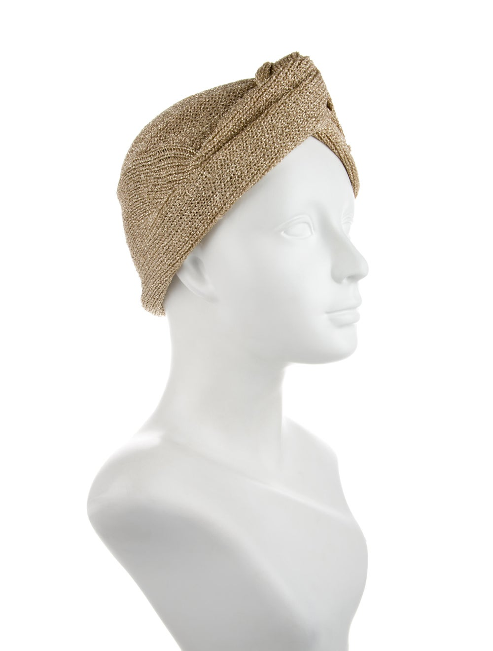 Patricia Underwood Metallic Knot headband Gold - image 3