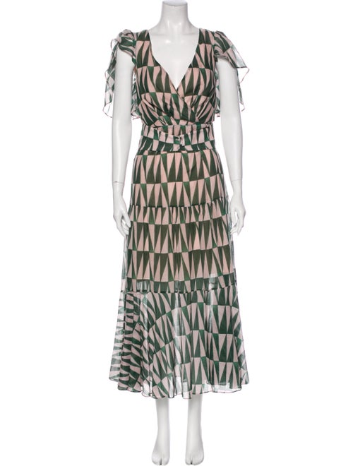 PatBO Silk Long Dress w/ Tags Green