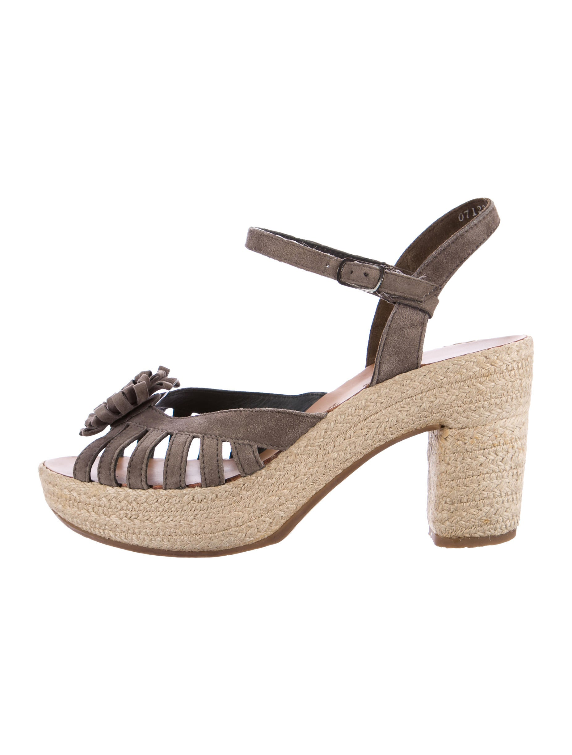 Eileen Fisher perforated nubuck leather espadrille sandal.2