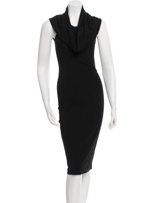 Plein Sud Cowl Neck Midi Dress Black - image 1