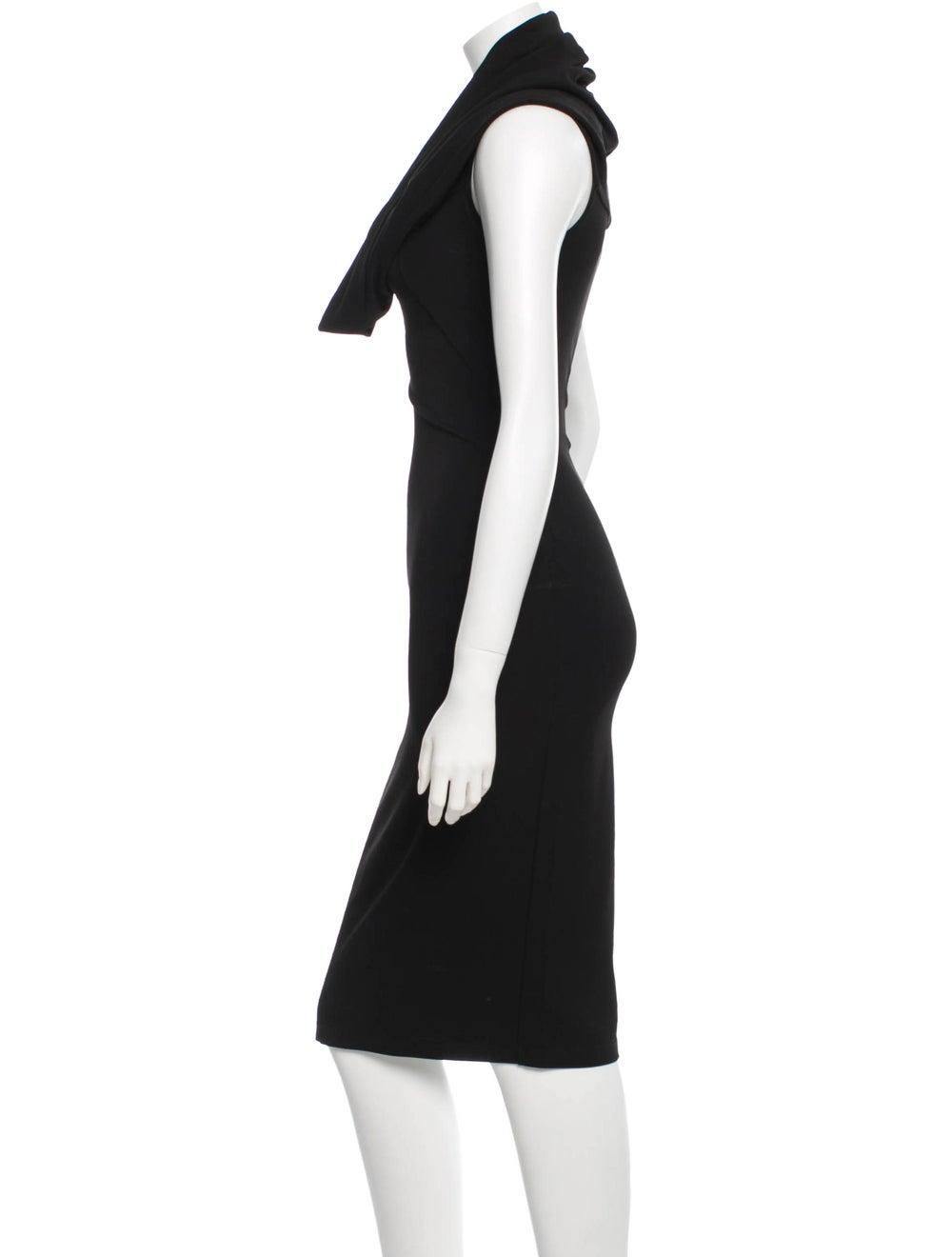 Plein Sud Cowl Neck Midi Dress Black - image 2