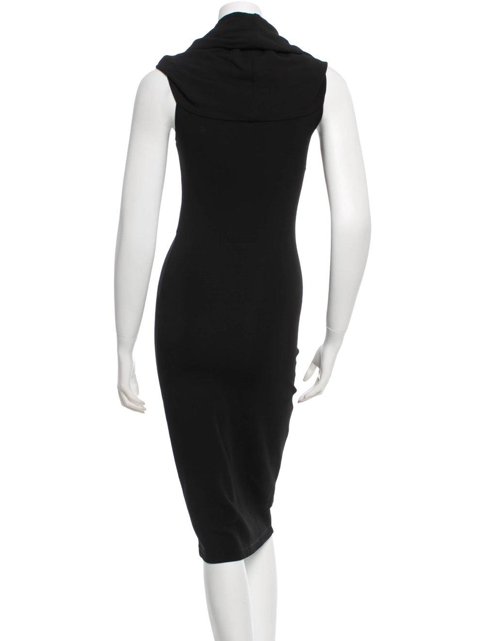 Plein Sud Cowl Neck Midi Dress Black - image 3