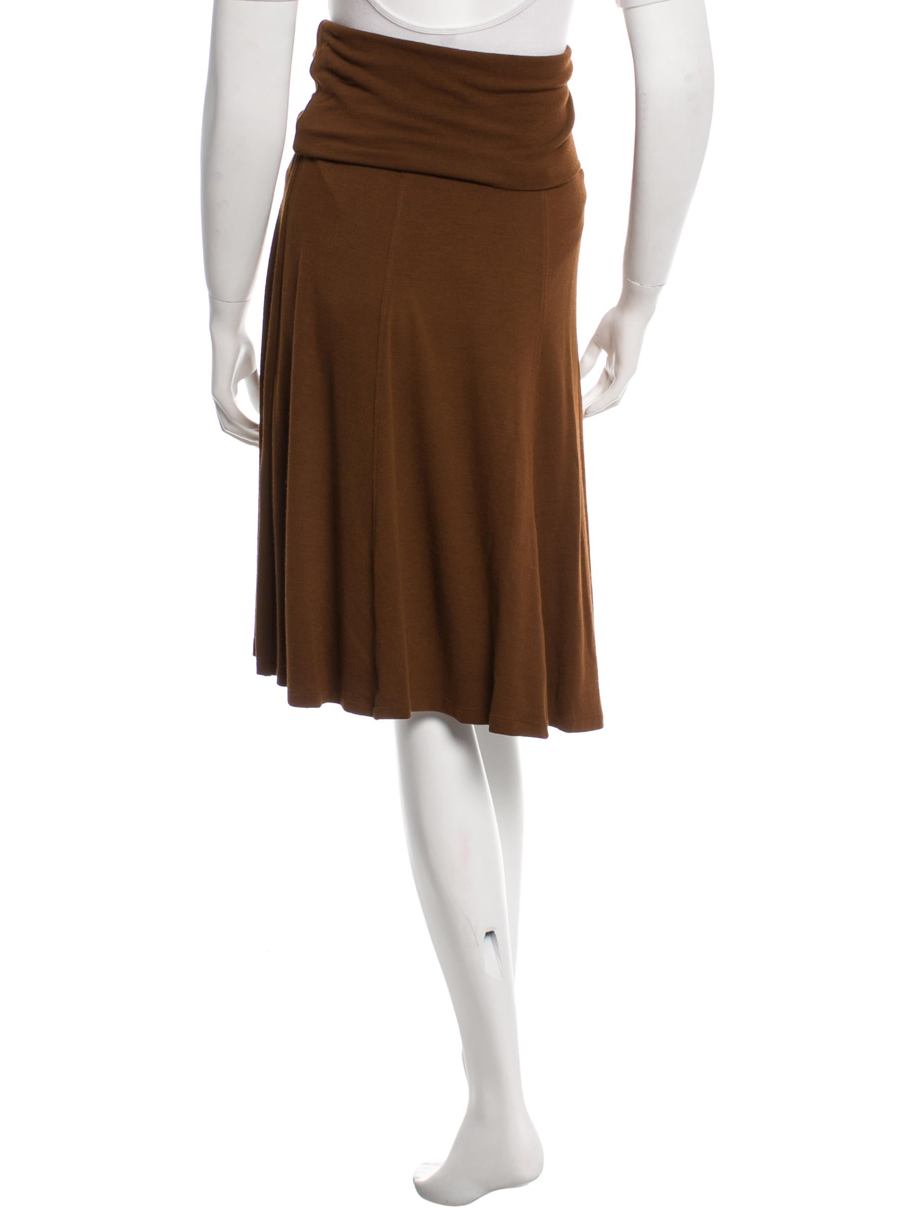 plein sud brown knee length skirt w tags clothing