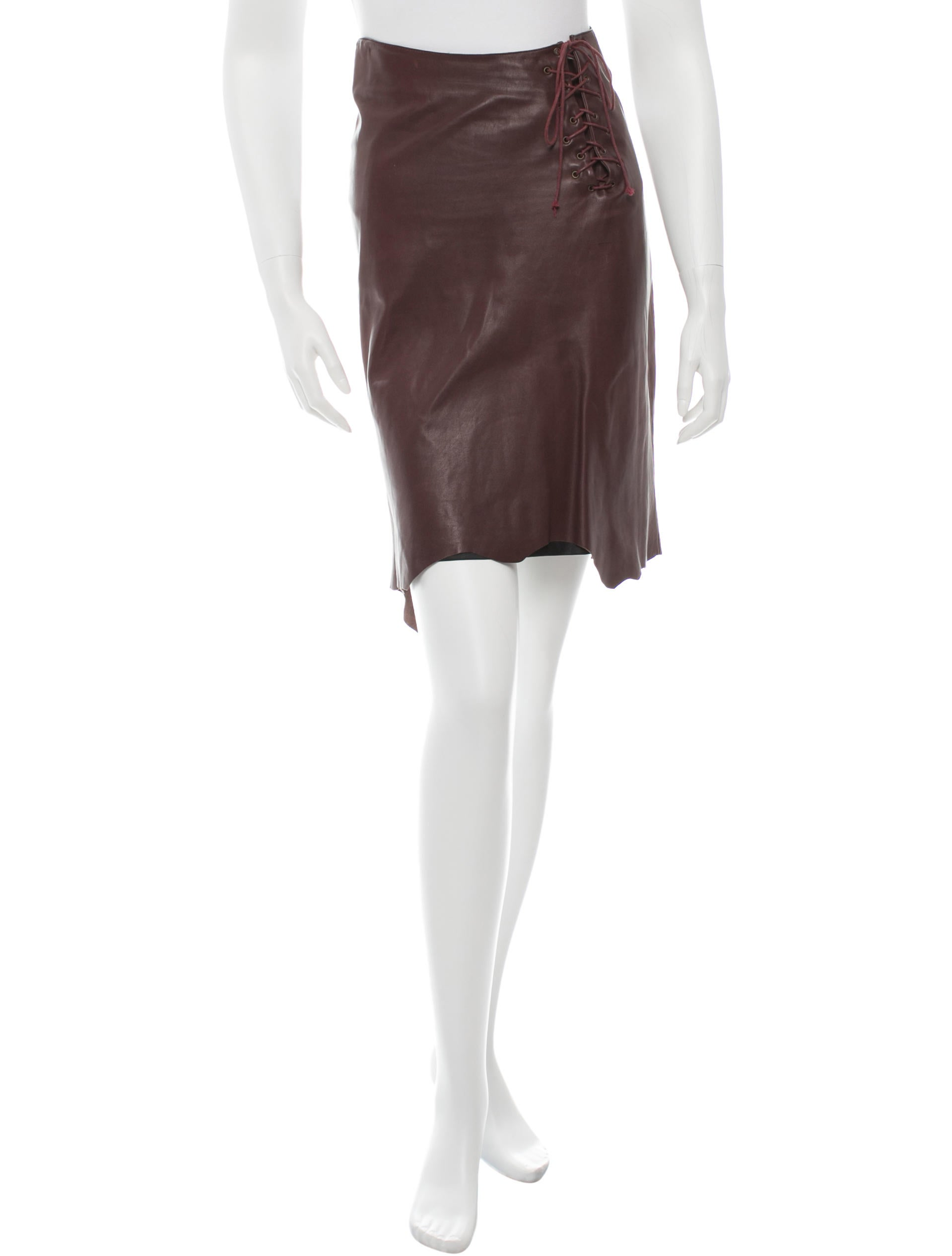 plein sud leather high low skirt clothing wpb20203