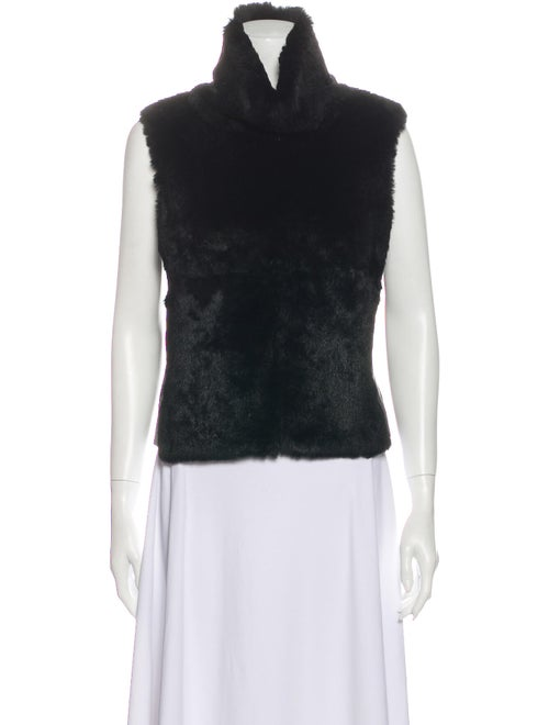 Plein Sud Turtleneck Sleeveless Top Black