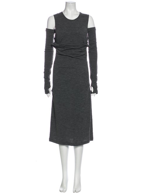 Plein Sud Wool Midi Length Dress Wool