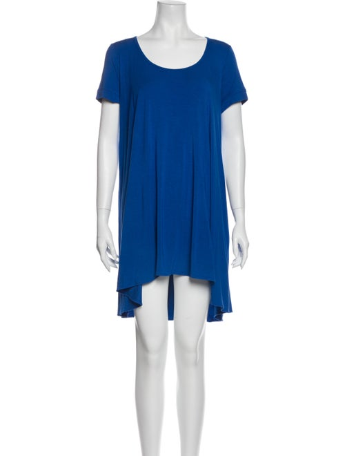 Plein Sud Scoop Neck Mini Dress Blue
