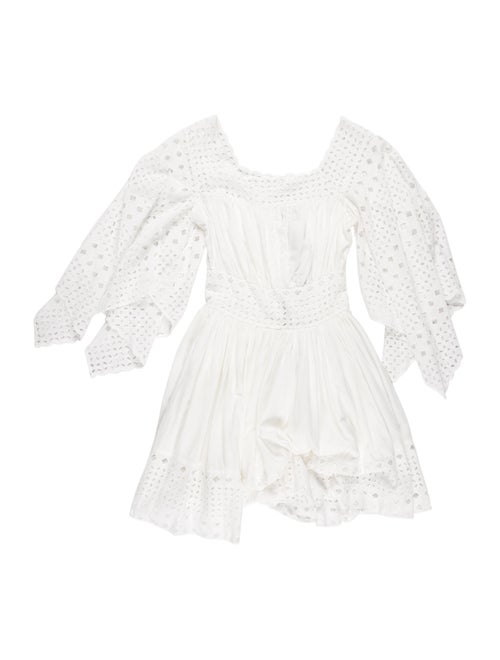 Plein Sud Bateau Neckline Mini Dress White