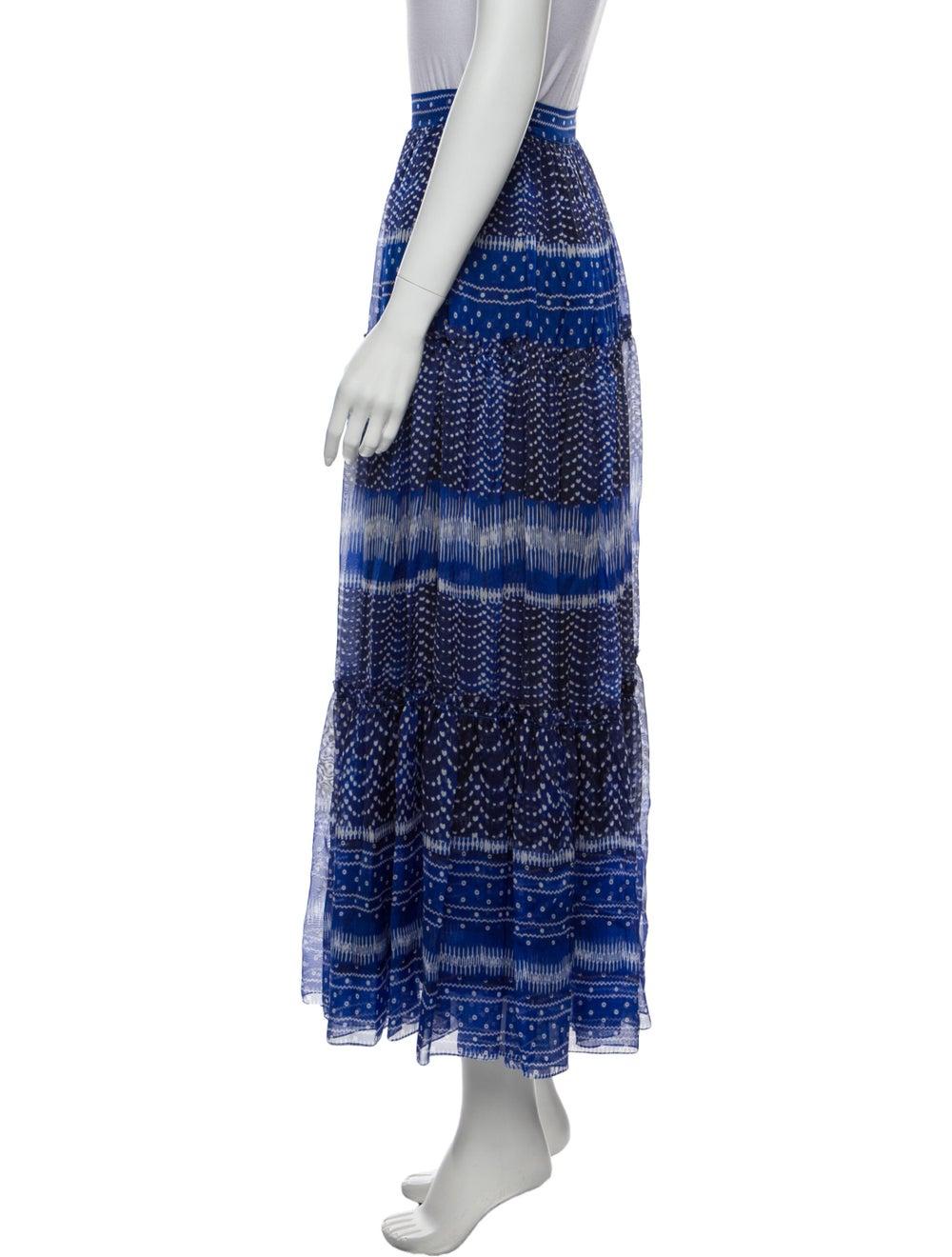 Plein Sud Printed Midi Length Skirt Blue - image 2