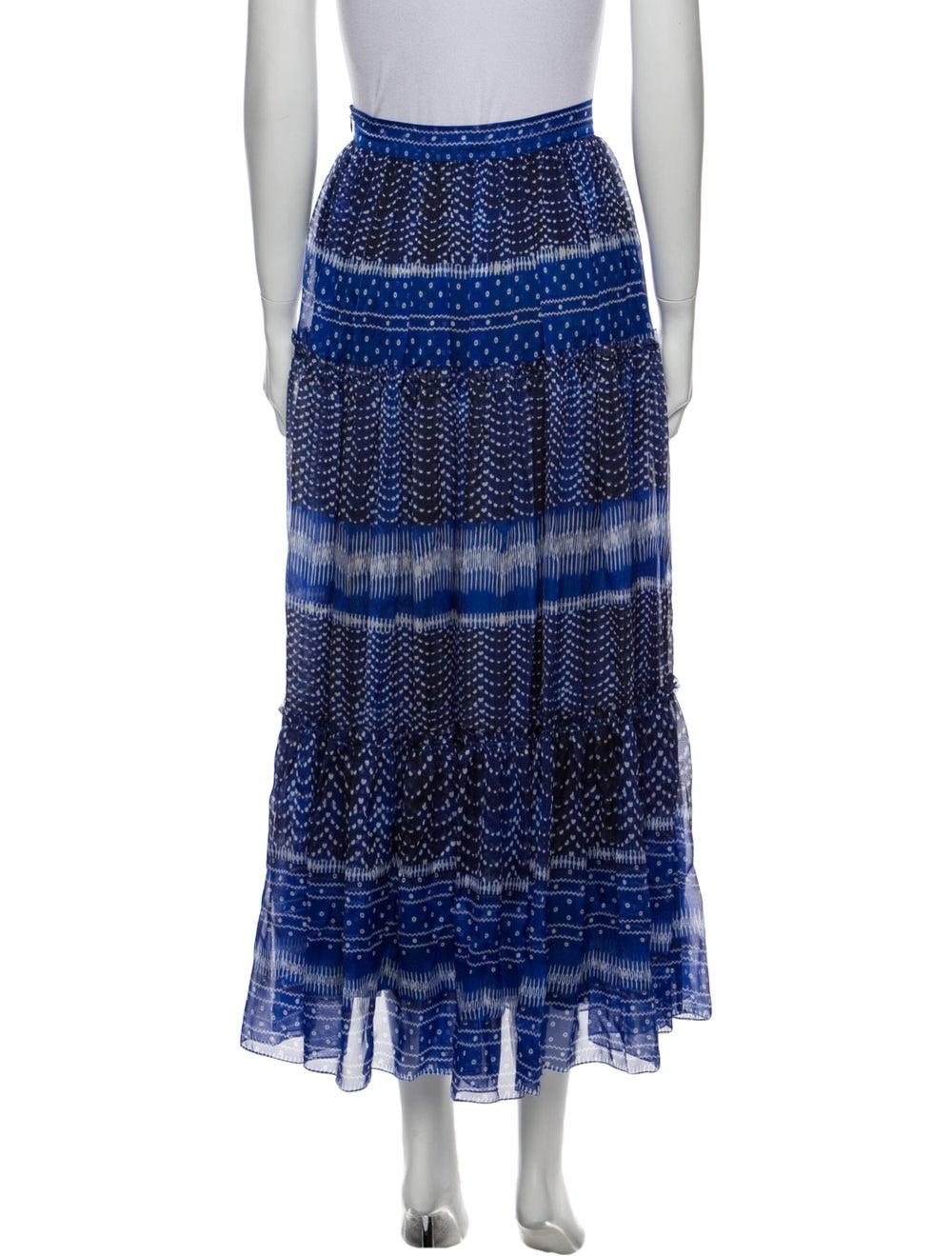 Plein Sud Printed Midi Length Skirt Blue - image 3