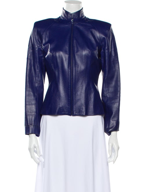 Plein Sud Leather Jacket Blue