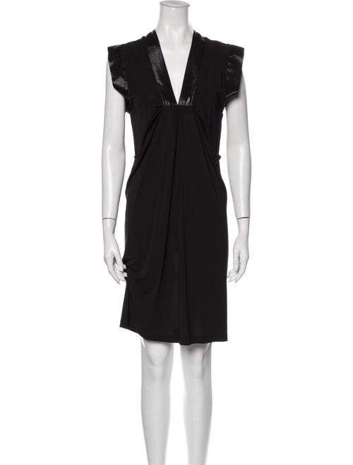 Plein Sud V-Neck Mini Dress Black - image 1