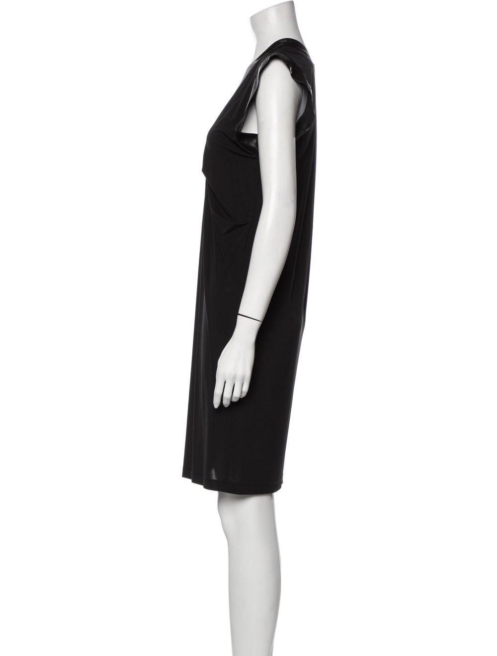 Plein Sud V-Neck Mini Dress Black - image 2