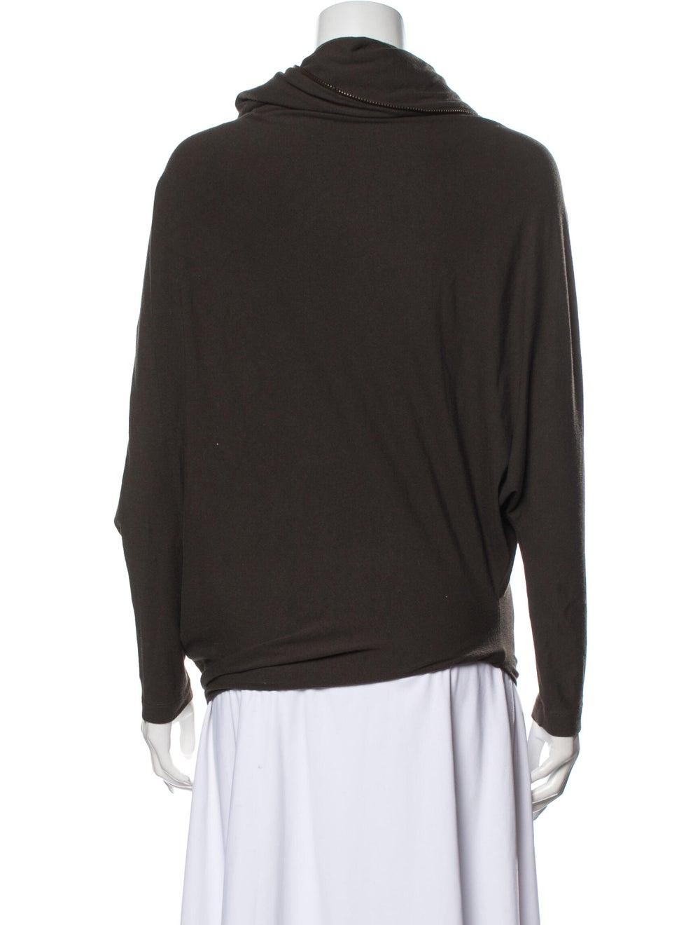 Plein Sud Cowl Neck Sweater Green - image 3