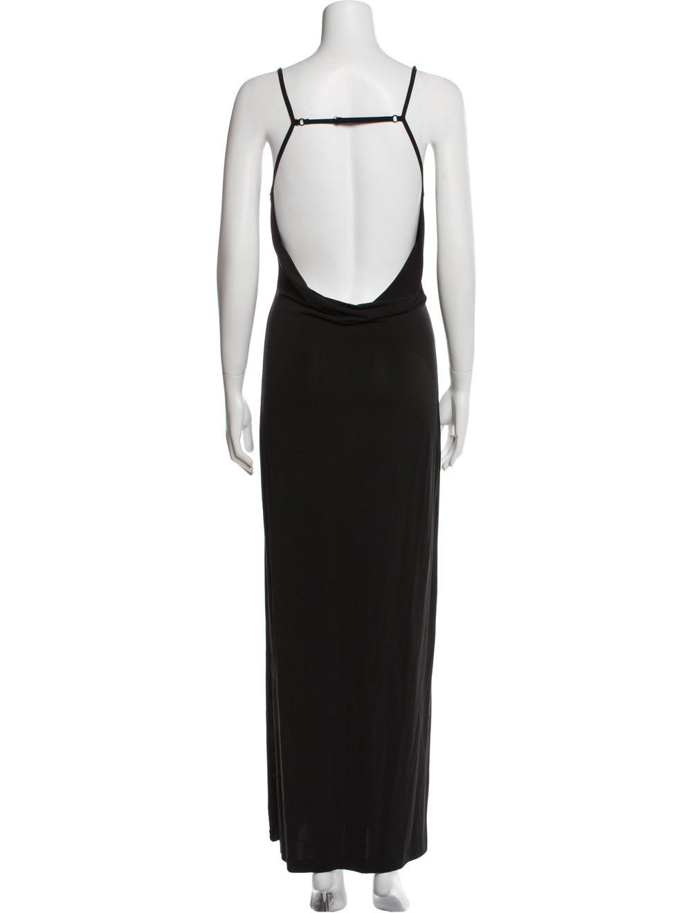 Plein Sud Scoop Neck Long Dress Black - image 3