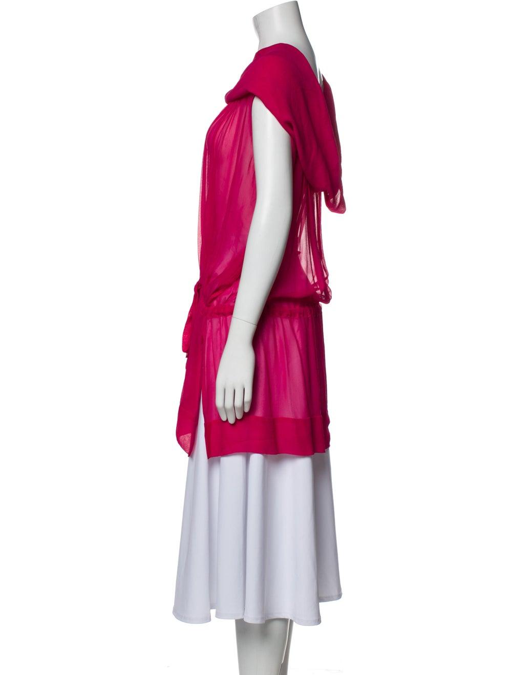 Plein Sud Silk Cowl Neck Tunic Pink - image 2