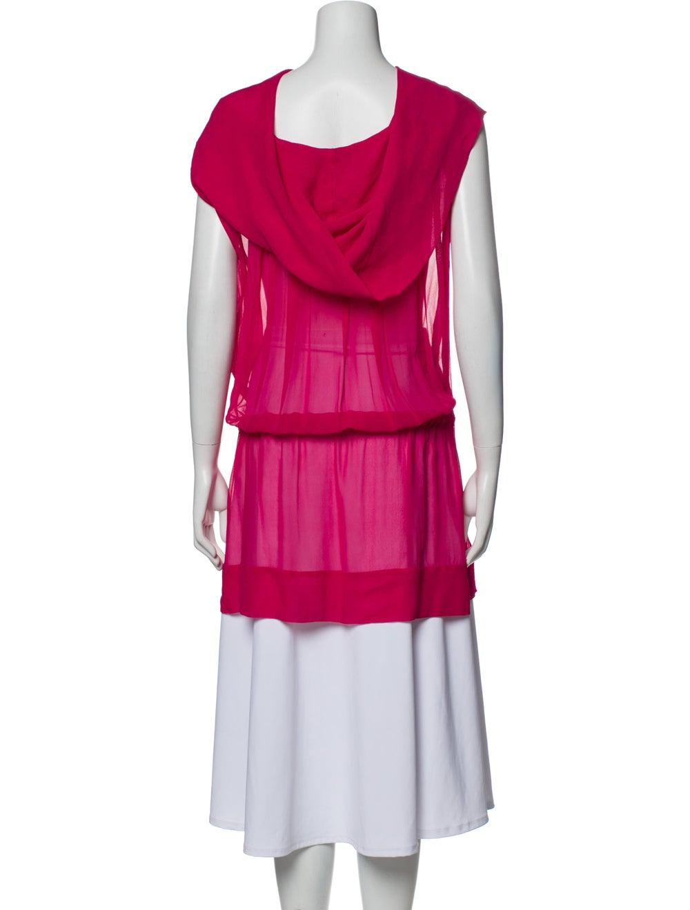 Plein Sud Silk Cowl Neck Tunic Pink - image 3