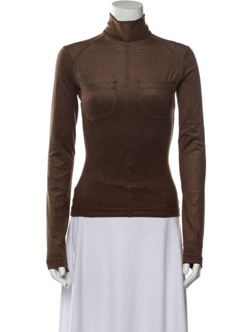 Plein Sud Turtleneck Long Sleeve Top w/ Tags Brown - image 1